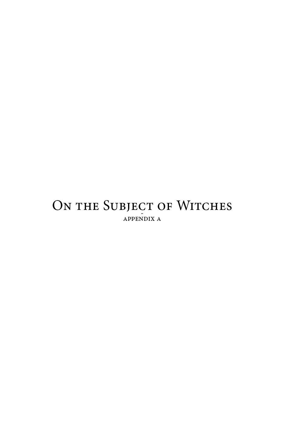 [ On the Subject of Witches - Recovery Fragments - 1 ]